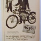 1949 WHIZZER PACEMAKER MOTOR BIKE AD THE SHARPEST THING IN TOWN