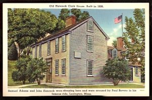 ca 1916/1930 HANCOCK CLARK HOUSE LEXINGTON MA