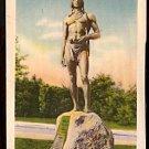 ca 1916/1930 MASSASOIT STATUE PLYMOUTH MA.