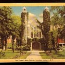 THE CHAPEL BATES COLLEGE LEWISTON MAINE LINEN