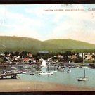 ca 1900 CAMDEN MAINE HARBOR & MOUNTAINS