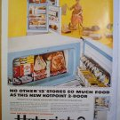 1958 FULL PAGE AD HOT POINT REFRIGERATOR NO OTHER STORES SO MUCH FOOD