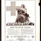 1918 AD RED CROSS CHRISTMAS ROLL CALL STAND UP & BE COUNTED _ AMERICAN CHAIN CO