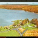Ca 1960 LOVELY AUTUMN VIEW VERRILL'S DELUXE CABINS Telephone 10-2 RANGELY LAKES MAINE 744