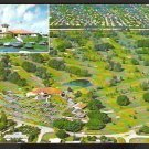 Ca 1965 BIRDS EYE VIEW FORT LAUDERDALE COUNTRY CLUB FLORIDA 763