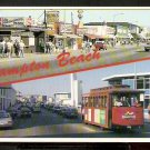 Ca 1960 MULTI VIEW OCEAN BOULEVARD HAMPTON BEACH NEW HAMPSHIRE W/ TROLLEY 771