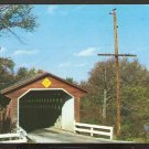 Ca 1960 SILK ROAD COVERED BRIDGE NORTH BENNINGTON VERMONT 778