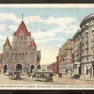 1917 COPLEY SQ TRINITY CHURCH WESTMINSTER & COPLEY PLAZA HOTEL FOOD WILL WIN THE WAR 786