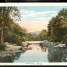 1922 MONADNOCK BROOK MAINE POSTCARD 803