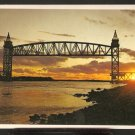 LOVELY SUNSET VIEW CAPE COD CANAL BUZZARDS BAY RAILROAD BRIDGE 831
