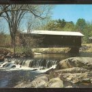 Ca 1960 COVERED BRIDGE OVER PLACID STREAM WATERLOO NEW HAMPSHIRE 834