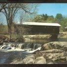 Ca 1960 COVERED BRIDGE OVER PLACID STREAM WATERLOO NEW HAMPSHIRE 834