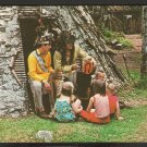 MOHAWK INDIANS OUTSIDE MANIWAKI BARK HOUSE 6 NATIONS INDIAN MUSEUM 841