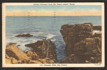 THUNDER HOLE BAR HARBOR ACADIA NATIONAL PARK MT DESERT ISLAND MAINE 853