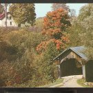 STOW HOLLOW BRIDGE & WHITE FARMHOUSE STOWE VERMONT 865