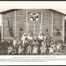 1918 NATGEO PHOTOS WW1 DOUGHBOYS WATCHING MOVIE RED CROSS NURSERY