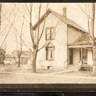 VINTAGE RPPC FAMILY HOME SURROUNDED BY NAKED TREES SMALL PORCH REAL PHOTO 872