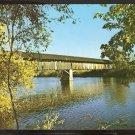 COVERED BRIDGE ROUTE 5 NEWBURY VERMONT ca 1960 883