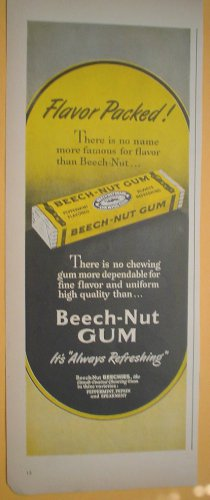 1949 ADS BEECH � NUT PEPPERMINT GUM ALWAYS REFRESHING + DOW SARAN WINDOW SCREENS