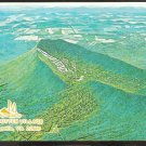 SPLENDID BIRDS EYE VIEW OF MASSANUTTEN VILLAGE McGAHEYSVILLE VIRGINIA SHENANDOAH VALLEY 900