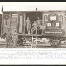 1918 NATGEO PHOTO CZECHO-SLOVAK TROOPS IN SIBERIA ON DECORATED RAILROAD CAR