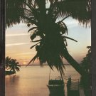 LOVELY SUNSET DOCK BOAT PALM TREES MADEIRA BEACH FLORIDA 910