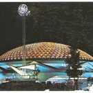 1964 NIGHT VIEW GENERAL ELECTRIC PAVILION NEW YORK WORLDS FAIR 907