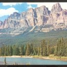 MOUNT EISENHOWER CANADIAN ROCKIES SURROUNDING FOREST AND LAKE 921