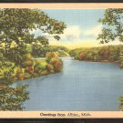 GREETINGS FROM ALBION MICHIGAN 1951 KALAMAZOO RIVER AND FOREST 935