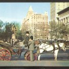 CARRIAGES HORSES DRIVERS WITH TOP HATS ON 59th ST NEW YORK CITY 934