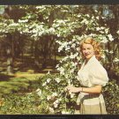 1958 A LOVELY LADY AMIDST THE BLOOMING DOGWOOD TREES AT SILVER SPRINGS FLORIDA 953