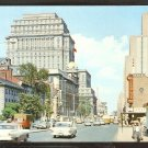 1950 Montreal Quebec Dorchester St. Autos Trucks Bus Terminal Sun Life Building 976