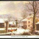 Postcard Winter-Time At Jones Inn Currier & Ives 987