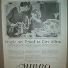 LARGE ORIGINAL 1923 MIRRO ALUMINUM COOKWARE AD