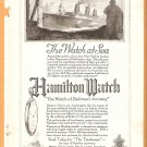 Original 1918 Hamilton Watch and Lee Tire ads