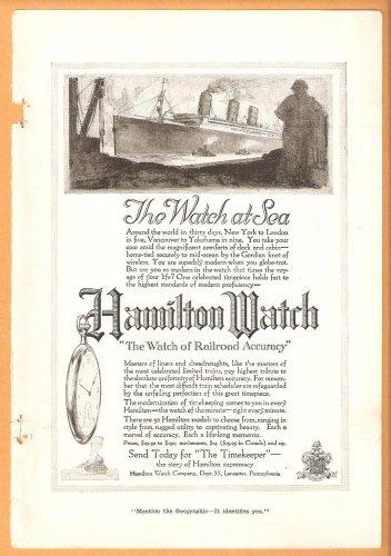 Original 1918 Hamilton Watch and Lee Tire ads