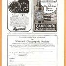 Original 1918 ADS GUARANTY TRUST COMPANY OF NEW YORK INGERSOLL WATCH SANFORDS INK