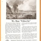 ORIGINAL 1918 AT&T WORLD WAR 1 GEOGRAPHIC AD MENTIONING GALLIPOLI