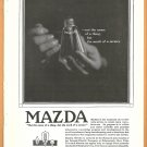 1918 GENERAL ELECTRIC RESEARCH LABS GE MAZDA AD Incandescent Light Bulb Service