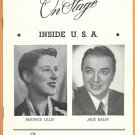 INSIDE THE USA JACK HALEY BEATRICE LILLIE 1949 SHUBERT THEATER PLAYBILL LINDA DARNELL CHESTERFIELD