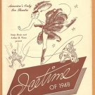 SONJA HENIE ICETIME OF 1948 ROCKEFELLER CENTER PROGRAM  BOB HOPE CHESTERFIELD CAMEL BALLANTINE