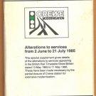 1985 BRITISH RAIL TIMETABLE SPECIAL SUPPLEMENT