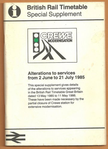 1985 BRITISH RAIL TIMETABLE SPECIAL SUPPLEMENT