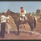 The Winners Circle Saratoga Race Course Thoroughbred Horse Jockey Groom 1006