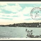 Waterfront and Town Belfast Maine 1923 White Border Postcard 1030