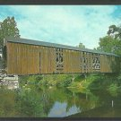 Lovely Summer View Covered Bridge Crossing the Souhegan River Milford New Hampshire Postcard 1029