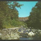 Covered Bridge Known as Brown Bridge Over Cold River Clarendon Vermont Postcard 1035