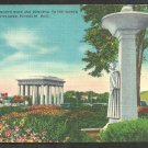 Memorial To The Women of the Mayflower Plymouth Rock Portico Plymouth MA Linen postcard 1045