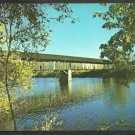 Covered Bridge Near Route 5 Newbury Vermont Chrome Postcard 1061