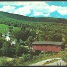 Covered Bridge West Arlington Vermont Battenkill River Church Road Fields Mountain Chrome Postcard